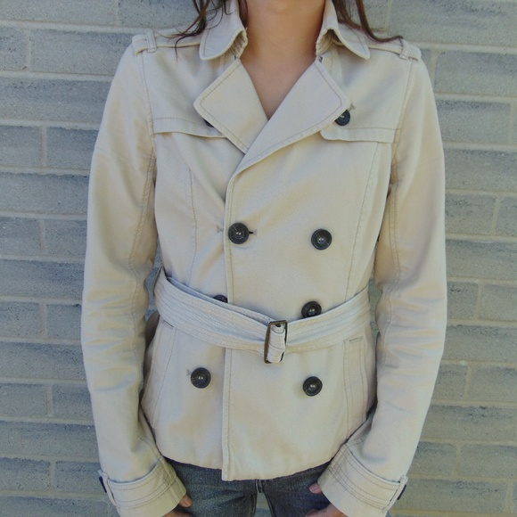 Abercrombie & Fitch Jackets & Blazers - ABERCROMBIE Double Button Mini Trench Coat